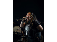 Kaysa Timmerbacka, vokalist i punkbandet Contorture
