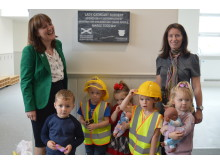 Minister with Lady Cathcart Nursery children
