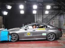 Mercedes-Benz CLA frontal offset impact test 2019