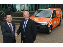 Andrew Goodwin, Business Development Director at Lex Autolease, left, with Richard Spencer Account Director RAC Business