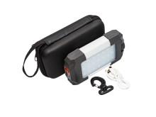 Laddningsbar campinglampa med dimbar LED-belysning och inbyggd mobilladdare