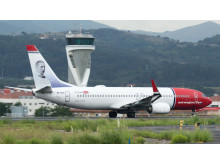 Norwegian's Anders Zorn EI FHU at Bilbao airport. Source, Euskal Spotters.