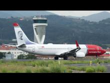 Norwegian's Anders Zorn EI FHU at Bilbao airport. Source, Euskal Spotters.