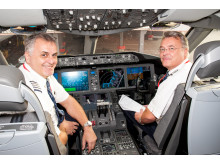 Long Haul pilots in Flight Deck