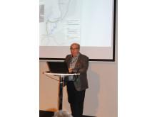 Jönköping blir Götalandsbanans medelpunkt, menade Anders Lundberg, seniorkonsult SWECO.