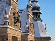 Fasadarbeten på Nordiska museet i Stockholm