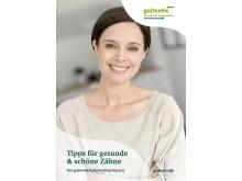 """Cover der Broschüre """"Tipps für gesunde & schöne Zähne"""""""