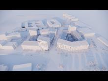 Flygvy ole römers väg Upphov är Akademiska Hus AB och Arkitema Architects.png