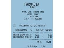 Kvittering på medisin kjøpt på den lokale apoteket