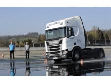 Scania Fahrsicherheitstraining auf dem Sachsenring