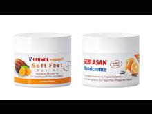 GEHWOL FUSSKRAFT Soft Feet Butter Kakao & Mandarine und GERLASAN Handcreme Vanille & Orange
