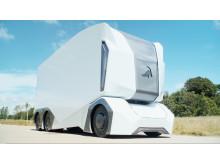 På Logistik & Transport visas T-Pod, ett fjärrstyrt lastfordon – förarlöst och eldrivet
