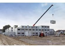 Bau einer temporären studentischen Wohnanlage