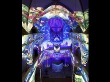 Lichtkunst vom Atelier Ingo Bracke in der Torgauer Schlosskirche