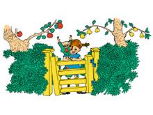 Pippi Långstrump vid grinden