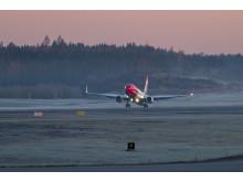 Norwegian Boeign 737 lähdössä