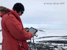Erik at Antarctica