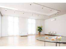 Miljøbilde av ZEN designvarmepumpe HVIT