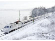 SJ 2000 i snö.
