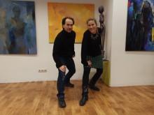 Tanzpädagoge und Choreograph Preslav Matchev mit der Künsterlin Rosa Treß