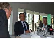 Jean-Pascal Tricoire, CEO i Schneider Electric, på Norgesbesøk.