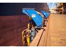 凯伏特MoorMaster MM200B单位在铁矿石在黑德兰港,澳大利亚处理设施。GYdF4y2Ba