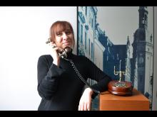 Annemarie Riemer als Vermittlerin im Stadtgeschichtlichen Museum Leipzig