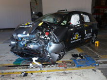 Honda Jazz - Mobile Progressive Deformable Barrier test 2020 - after crash