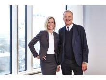 Carin Kindbom, vd och koncernchef, och Roger Holtback, styrelseordförande Svenska Mässan Stiftelse