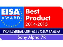 Vuoden 2014-2015 ammattitason kompakti järjestelmäkamera Euroopassa: A7R