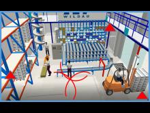 Simulierte Indoor-Lokalisierung am Beispiel des Logistik-Praxislabors der TH Wildau