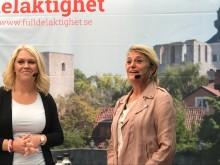 Lena Hallen gren och Eva Hamilton, Almedalen 2018