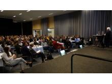 Nära 300 hade kommit till Skogsnolia konferens om jämställdhet och normkritik. Ann Dolling, SLU, var ett av tre goda exempel som presenterades.