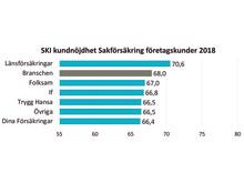 SKI kundnöjdhet Sakförsäkring B2B 2018