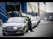 Mustang Mach E Drammen havn 2021
