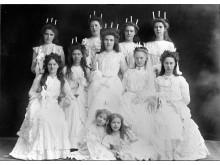 Alla får vara lucia. Tidigt 1900-tal. Foto: Alfred B. Nilsson, Nordiska museets arkiv.