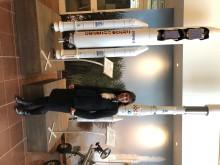 Riksdagsledamot Marie-Louise Hänel Sandström på besök hos RUAG Space