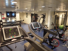 Fitness area on ESVAGT FROUDE