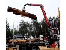Världspremiär på Elmia Wood för Palfinger Epsilons nya Q-serie.