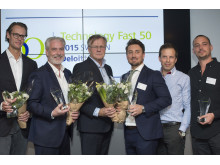 Pristagare Sweden Fast 50 Technology 2015