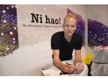 Jacob Clewåker, vd för SAC Shanghai i Sverge, har goda minnen från Elmia Subcontractor.