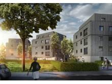 Adlershof in Berlin - ein erfolgreiches Beispiel für Urbanen Holzbau in Holz-Hybridbauweise