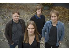 Dan Josefsson, Anna Nordbeck, Johannes Hallbom och Jakob Larsson, pristagare till Stora Journalistpriset 2017