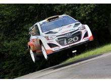 Bryan Bouffier flying high at Rally Deutschland