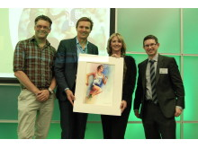 .(L to R - Ian Fennelly, Roger Black MBE, Liz Aldridge and Finegreen Chief Executive Neil Fineberg)