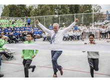 Kunnskapsminister Jan Tore Sanner åpnet idrettsungdomsskolen WANG Ung på HasleLinje.