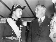 Frankllin D. Roosevelt med prins Bertil