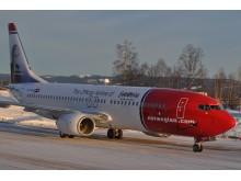 Piet Hein og Ludvig Holberg på Norwegians nye fly