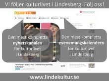 Vi följer kulturlivet i Lindesberg. Följ oss!