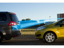 """Nye Ford Fiesta med sikkerhetsteknologien """"Active City Stop"""